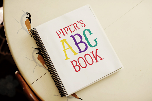 Post image for a personalized abc book