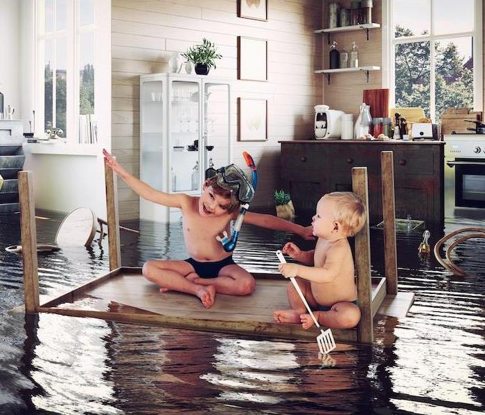 Post image for 2 kids, a flooded kitchen and being present
